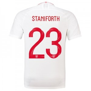 England Home Vapor Match Shirt 2018 with Staniforth 23 printing