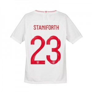 England Home Vapor Match Shirt 2018 - Kids with Staniforth 23 printing