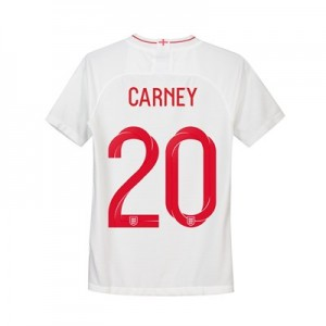 England Home Stadium Shirt 2018 - Kids with Carney 20 printing