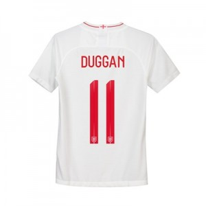 England Home Stadium Shirt 2018 - Kids with Duggan 11 printing