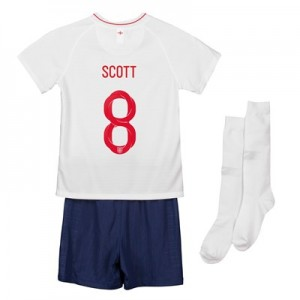 England Home Stadium Kit 2018 - Infants with Scott 8 printing