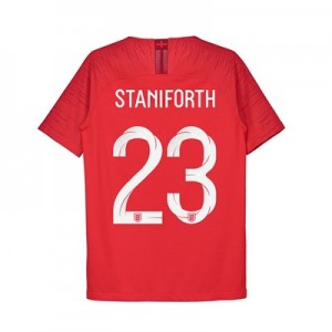England Away Vapor Match Shirt 2018 - Kids with Staniforth 23 printing