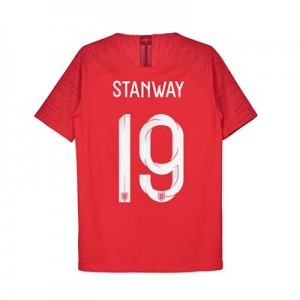 England Away Vapor Match Shirt 2018 - Kids with Stanway 19 printing