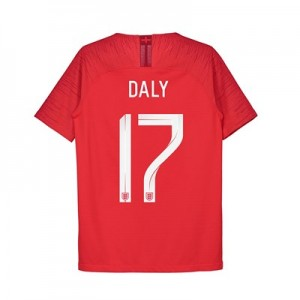 England Away Vapor Match Shirt 2018 - Kids with Daly 17 printing