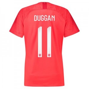 England Away Stadium Shirt 2018 - Womens with Duggan 11 printing