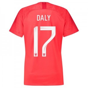 England Away Stadium Shirt 2018 - Womens with Daly 17 printing