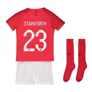 England Away Stadium Kit 2018 - Little Kids with Staniforth 23 printing