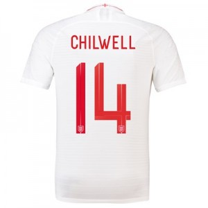 England Home Vapor Match Shirt 2018 with Chilwell 14 printing