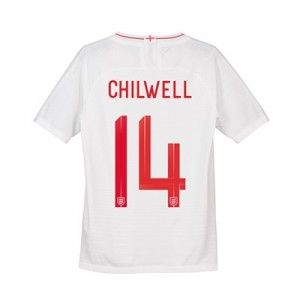 England Home Vapor Match Shirt 2018 - Kids with Chilwell 14 printing