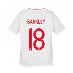 England Home Vapor Match Shirt 2018 - Kids with Barkley 18 printing