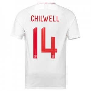 England Home Stadium Shirt 2018 with Chilwell 14 printing