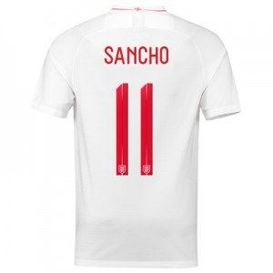 England Home Stadium Shirt 2018 with Sancho 11 printing