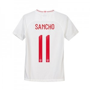 England Home Stadium Shirt 2018 - Kids with Sancho 11 printing