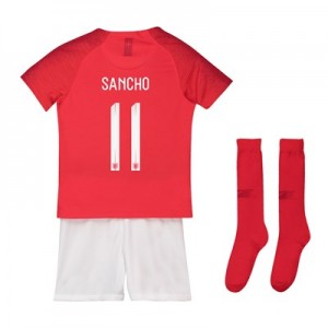 England Away Stadium Kit 2018 - Little Kids with Sancho 11 printing
