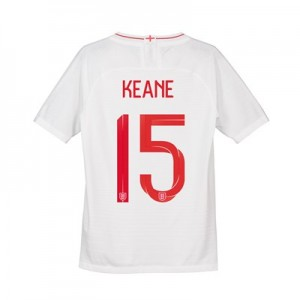 England Home Vapor Match Shirt 2018 - Kids with Keane 15 printing