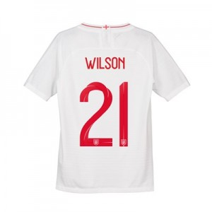 England Home Vapor Match Shirt 2018 - Kids with Wilson 21 printing