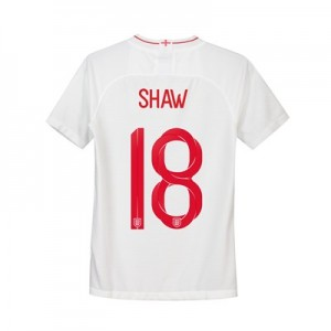 England Home Stadium Shirt 2018 - Kids with Shaw 18 printing
