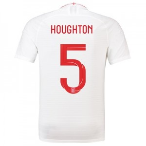 England Home Vapor Match Shirt 2018 with Houghton 5 printing