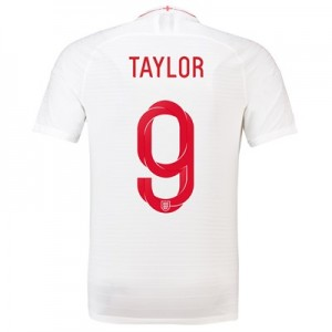 England Home Vapor Match Shirt 2018 with Taylor 9 printing