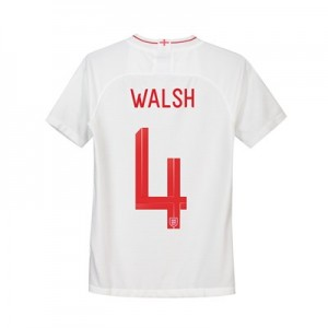 England Home Stadium Shirt 2018 - Kids with Walsh 4 printing