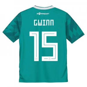 Germany Away Shirt 2018 - Kids with Gwinn 15 printing