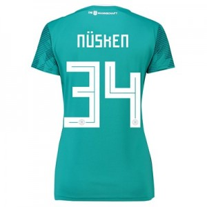 Germany Away Shirt 2018 - Womens with Nüsken 34 printing