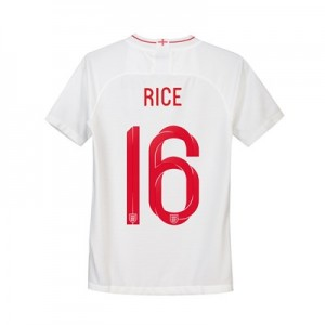 England Home Stadium Shirt 2018 - Kids with Rice 16 printing