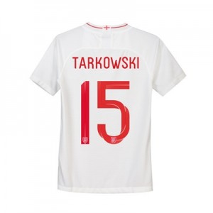 England Home Stadium Shirt 2018 - Kids with Tarkowski 15 printing