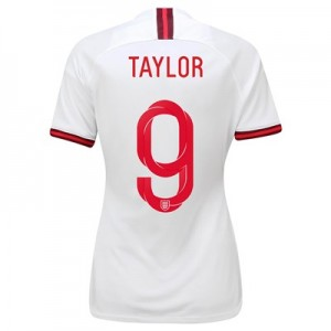 England Home Vapor Match Shirt 2019-20 - Women's with Taylor 9 printing