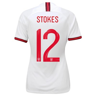 England Home Vapor Match Shirt 2019-20 - Women's with Stokes  12 printing