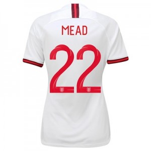 England Home Vapor Match Shirt 2019-20 - Women's with Mead 22 printing