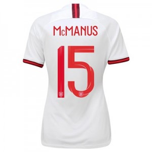 England Home Stadium Shirt 2019-20 - Women's with McManus 15 printing