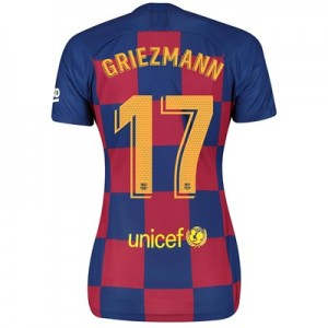 Barcelona Home Stadium Shirt 2019-20 - Womens with Griezmann 17 printing