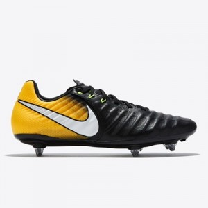 Nike Tiempo Legacy III Soft Ground Football Boots - Black/White/Laser Orange/Volt