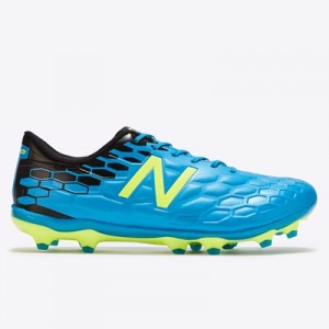 New Balance Visaro 2.0 Mid Firm Ground Football Boots - Blue