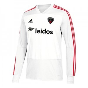 DC United Training Top - Long Sleeve - White