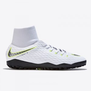 Nike HypervenomX Phantom 3 Academy Dynamic Fit Astroturf Trainers - White