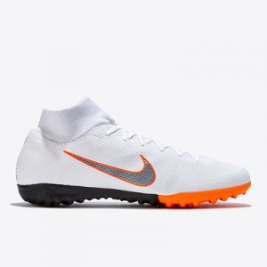 Nike MercurialX Superfly 6 Academy Astroturf Trainers - White - Kids