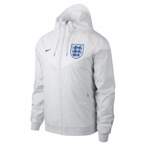 England Authentic Woven Windrunner Jacket - White