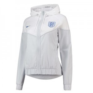 England Authentic Woven Windrunner Jacket - White - Womens