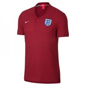 England Authentic Franchise Grand Slam Polo - Red