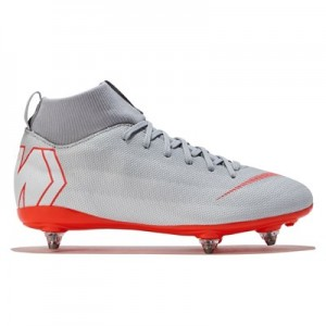 Nike Mercurial Superfly 6 Academy Soft Ground Football Boots - Grey - Kids