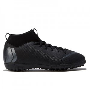 Nike MercurialX Superfly 6 Academy Astroturf Trainers - Black - Kids