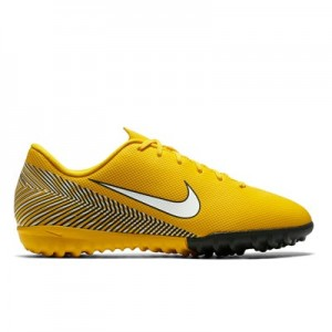 Nike MercurialX Vapor 12 Academy NJR Astroturf Trainers - Yellow - Kids