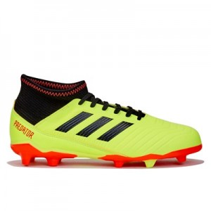 adidas Predator 18.3 Firm Ground Football Boots - Yellow - Kids