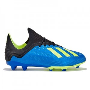 adidas X 18.1 Firm Ground Football Boots - Blue - Kids