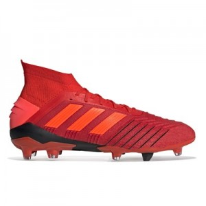 adidas Predator 19.1 Firm Ground Football Boots - Red
