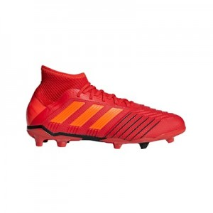 adidas Predator 19.1 Firm Ground Football Boots - Red - Kids