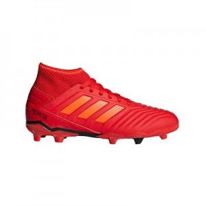 adidas Predator 19.3 Firm Ground Football Boots - Red - Kids