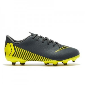 Nike Mercurial Vapor 12 Academy Multi-Ground Football Boots - Grey - Kids